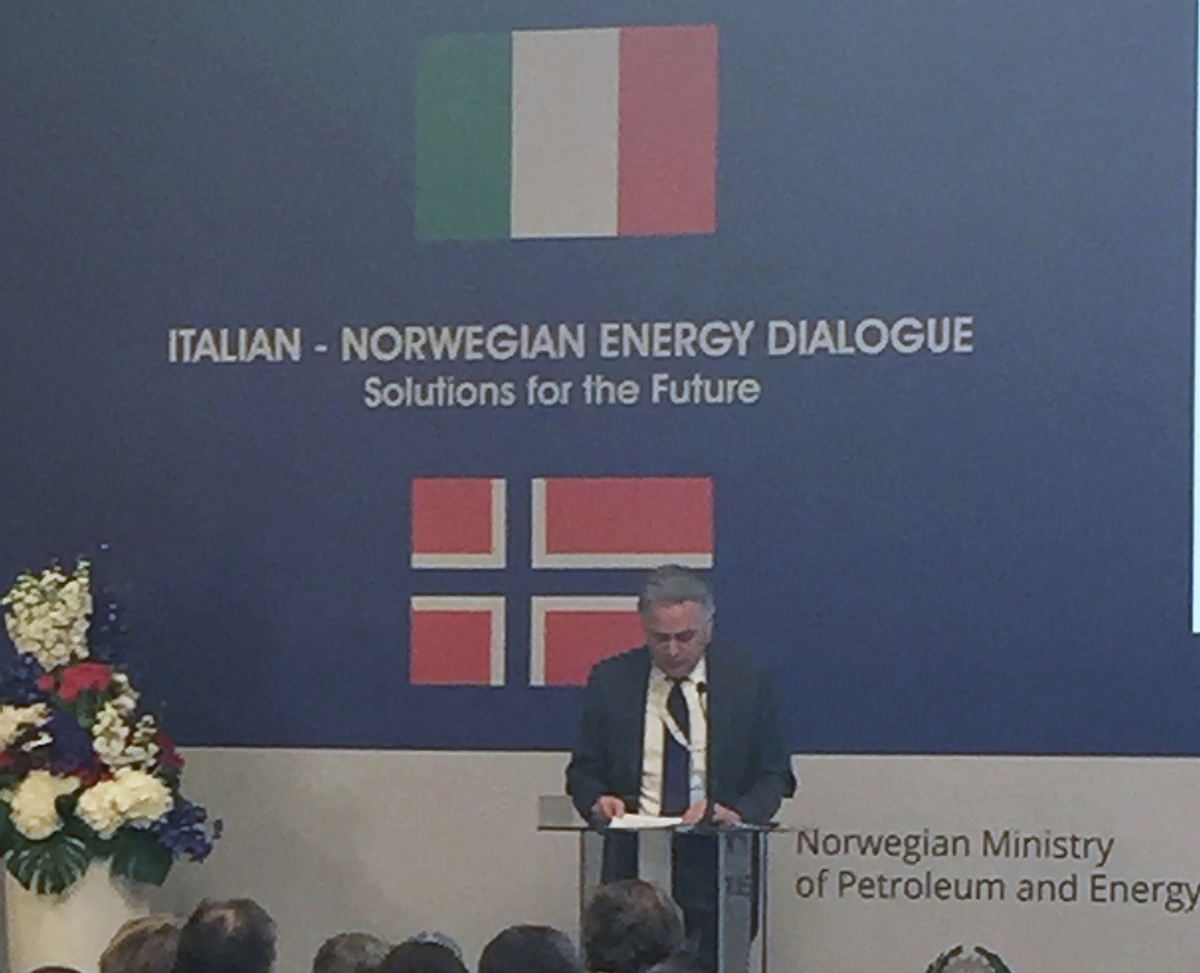 "8 aprile 2016 – Stefano Cao all'Italian-Norwegian Energy Dialogue ""Solutions for the Future"""