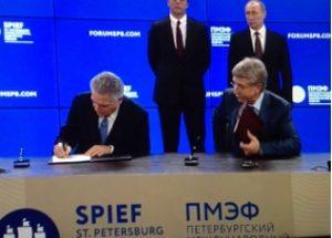 17 giugno 2016 – Stefano Cao e l'AD di Novatek firmano un accordo di partnership nell'ambito dello SPIEF Forum 2016, alla presenza del Presidente del Consiglio dei Ministri, Matteo Renzi, e del Presidente della Federazione Russa, Vladimir Putin