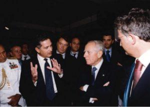 Stefano Cao meets Carlo Azeglio Ciampi, former President of Italian Republic